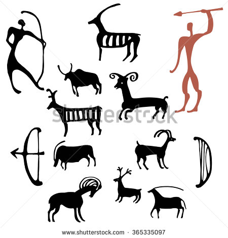 Rock Art Stock Photos, Royalty.