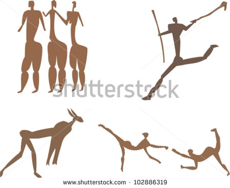 Rock Art Stock Images, Royalty.