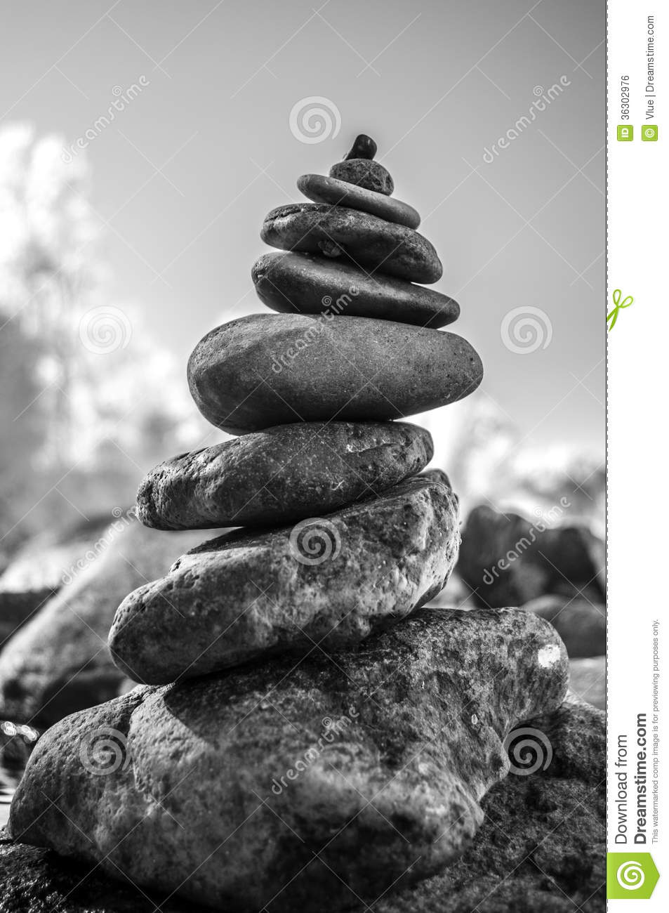 Rock Balancing Royalty Free Stock Image.