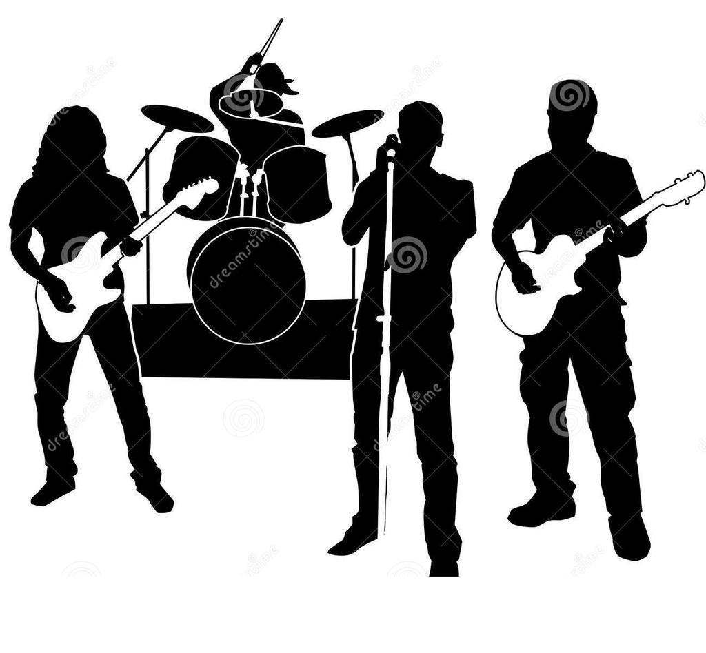 Rock Band Clipart Sketch 494.