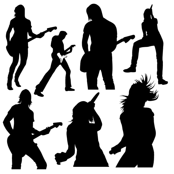 girl Rock Band Clip Art.