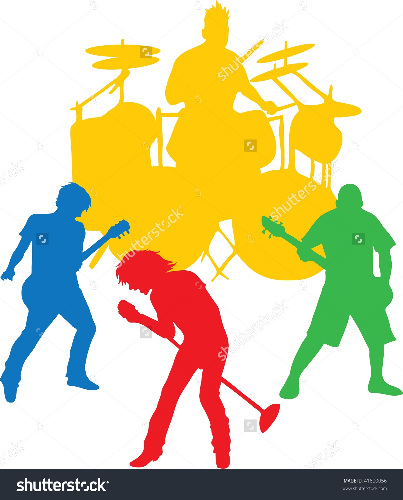 Clip Art Illustration Rock Band Stock Illustration 41600056.