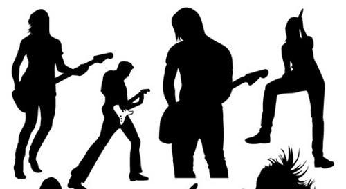 Rock band clip art.