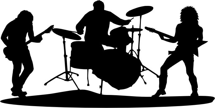 Rock Band Silhouette Clipart.