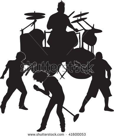 Clip Art Illustration Rock Band Stock Illustration 41600053.