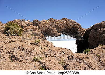 Stock Photos of Rock Bridge in Salar de Uyuni, Bolivia.