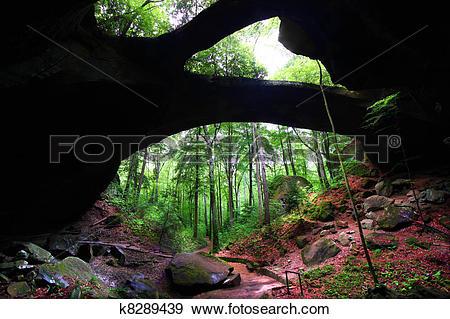 Stock Photograph of Alabama Natural Rock Bridge k8289439.