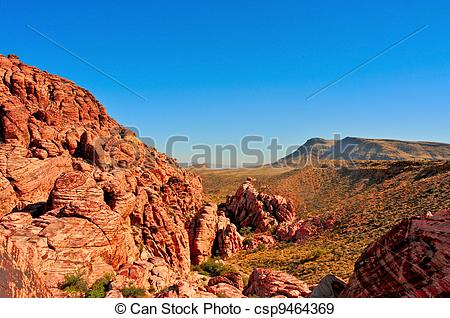 Stock Photographs of sandstone landscape in Red Rock Canyon.