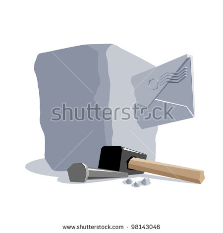 Stone Chisel Stock Photos, Royalty.