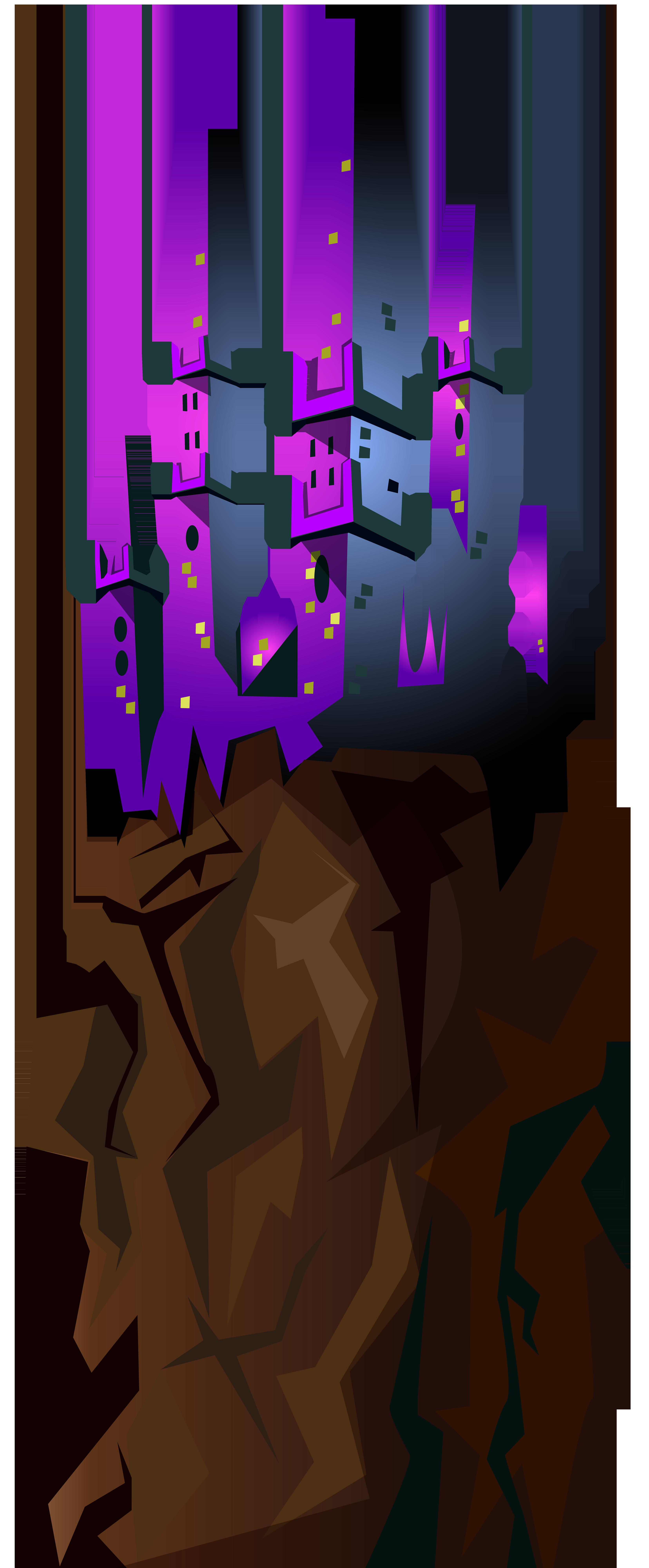 Castle on the Rock Transparent PNG Clip Art Image.