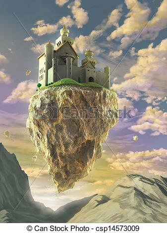 Stock Illustration of Floating castle.