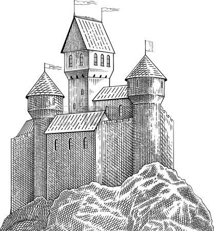 8,723 Medieval Castle Stock Vector Illustration And Royalty Free.