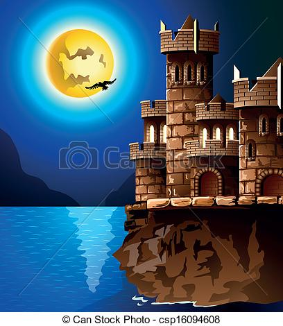 Vector Clipart of castle.