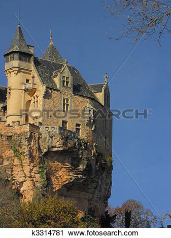 Stock Photography of Cliff, rock, Castle, Montfort , fortification.