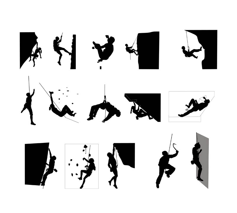 Climber Silhouette Vector at GetDrawings.com.