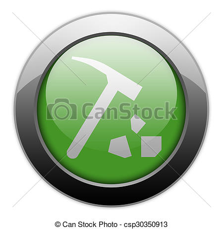 Clipart of Icon, Button, Pictogram Rock Collecting.
