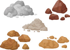 Stone and rock collection.