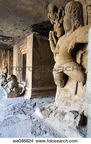 Stock Photo of Stone carvings in rock.