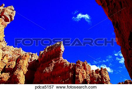 Picture of national park, day, stone column, stone pole, America.