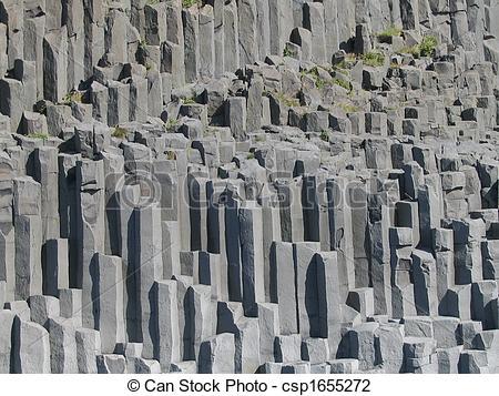 Stock Photo of Basalt Columns.