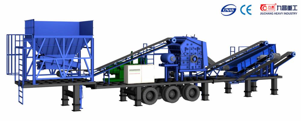 Mobile Crushing Machine/rock Crushing Plant.