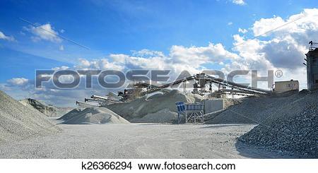 Stock Photo of rock crusher machine k26366294.