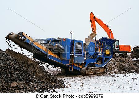 Stock Photographs of Stone crusher.