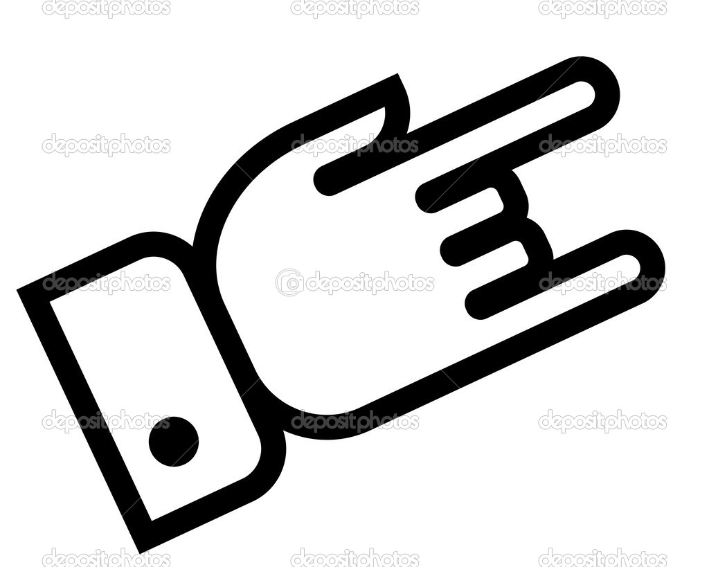 Hand showing rock outline icon — Stock Vector © furtaev #43180213.