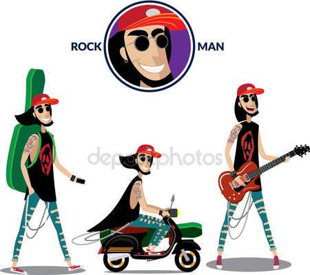 Man plays a guitar Stock Vectors, Royalty Free Man plays a guitar.