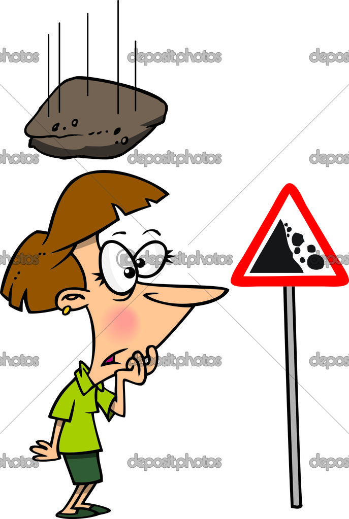Cartoon Falling Rock — Stock Vector © ronleishman #14000161.
