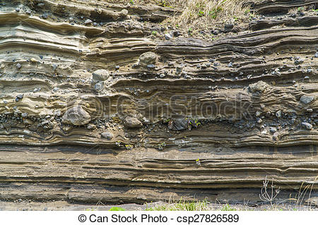 Pictures of Sedimentary Rock (Pyroclastic deposit) at Suwolbong.