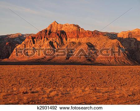 Stock Photo of Red Rock Desert Nevada k2931492.
