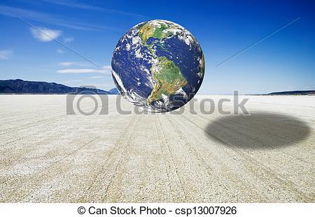 Clip Art of Earth image over the Black Rock Desert Playa.