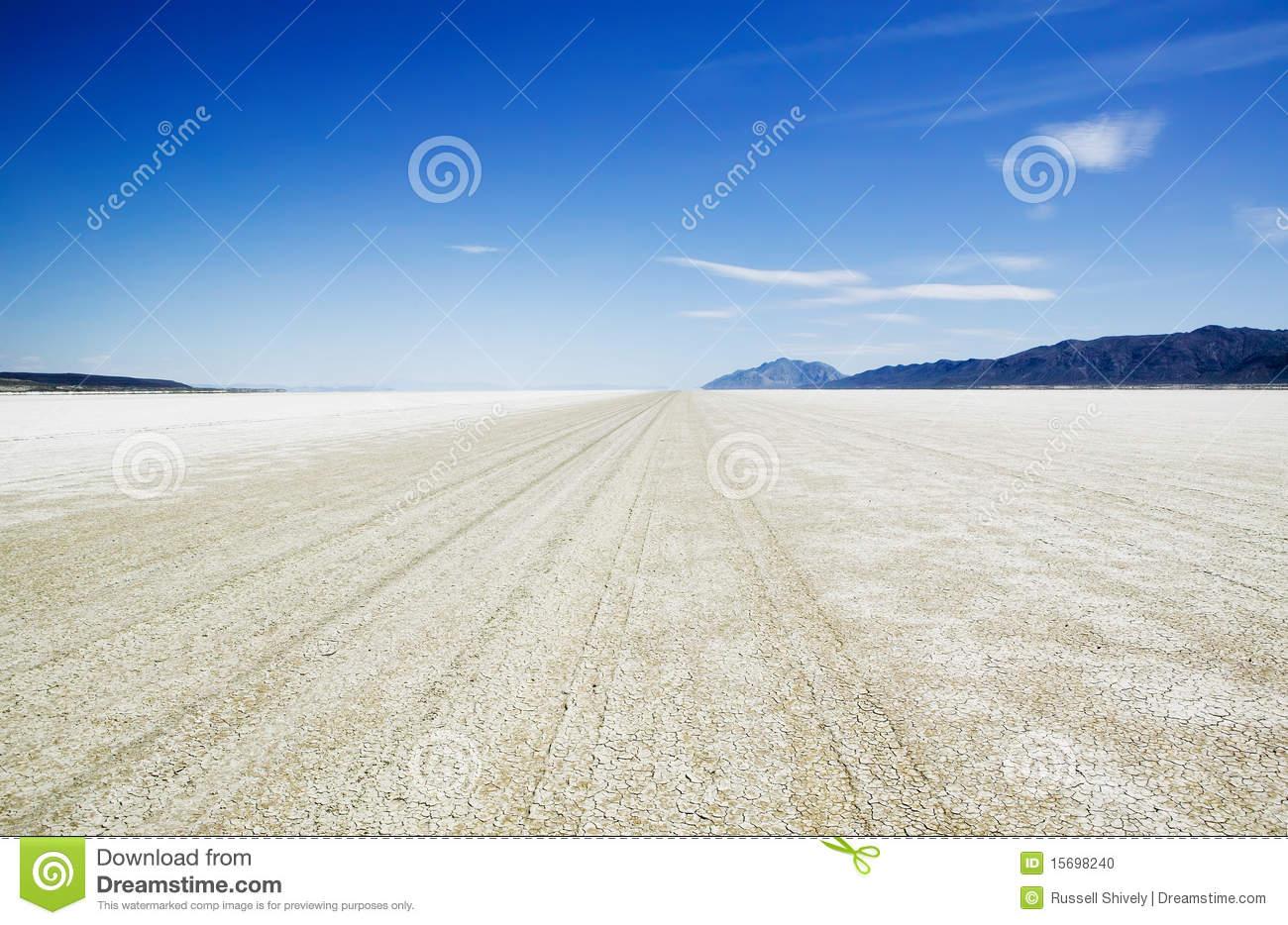 Salt Flat Playa Of The Black Rock Desert Stock Photo.