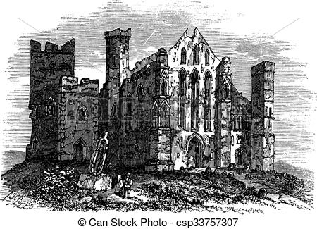 Vector Clipart of Rock of Cashel or Cashel of the Kings, Ireland.