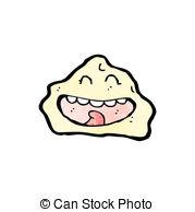 Vector Clip Art of cartoon rock with face csp15573811.