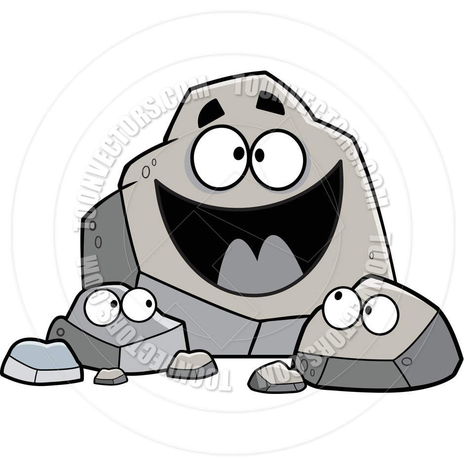 Cartoon rocks clipart.