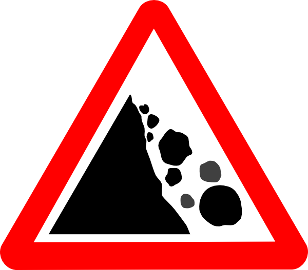 Falling Rocks Clip Art at Clker.com.