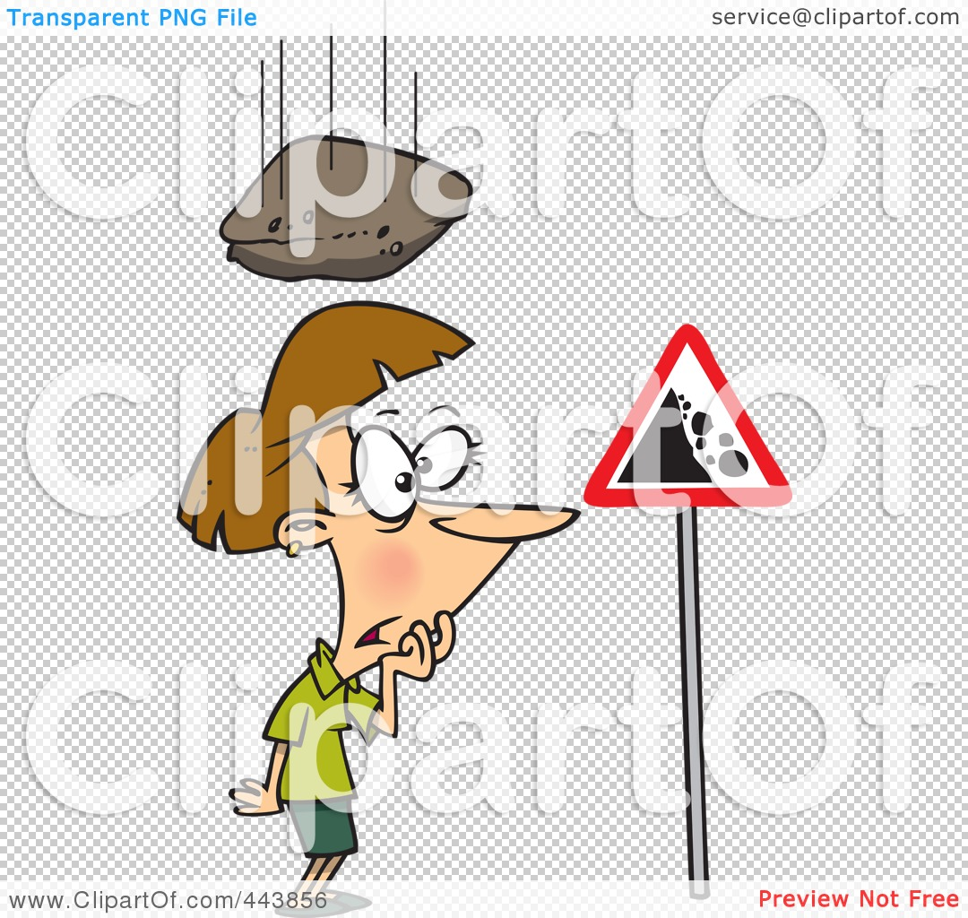 Woman Falling Down Clipart.