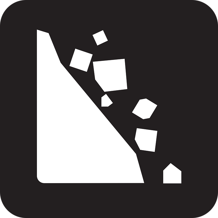 Free vector graphic: Rockfall, Falling Rocks, Rock Fall.