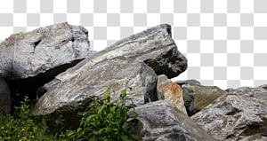 Rock Boulder Illustration, stone transparent background PNG.