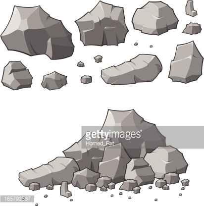 stone cracks vector.