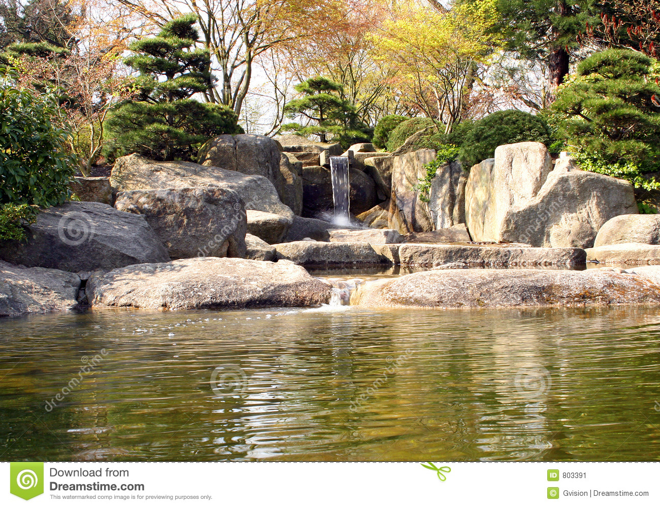 Japanese Rock Garden Stock Image.