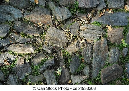 Pictures of Garden Stone Masonry Flat Rock Path.