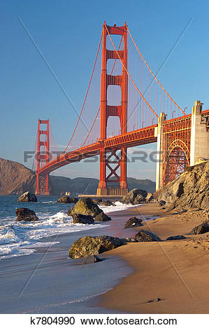 Stock Photography of The Golden Gate Bridge in San Francisco.