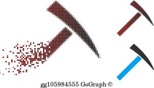 Royalty Free Rock Hammer Clip Art.