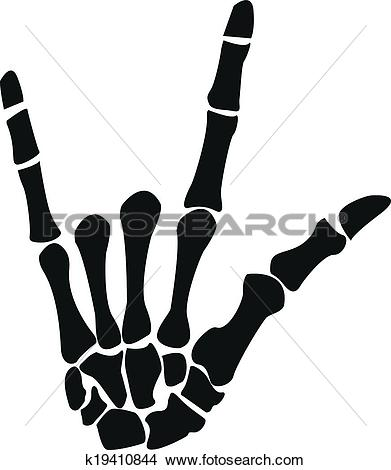 Clipart of Rock Skeleton hand k19410844.