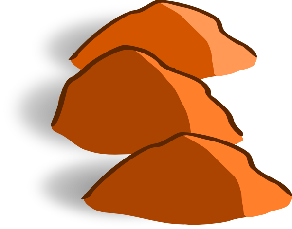 Brown rock clipart.