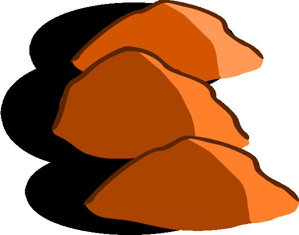 Brown rock clipart.