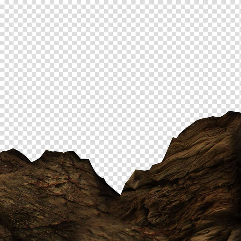 Rocky Cliffs, brown rock hills transparent background PNG.